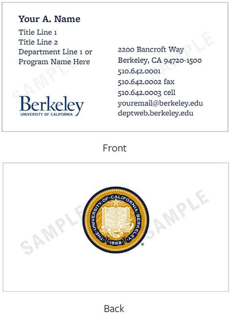 uc berkeley business card template letterpress business cards berkeley choice image card