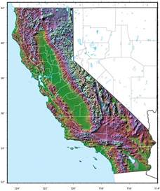 california relief map california relief map mapsof net