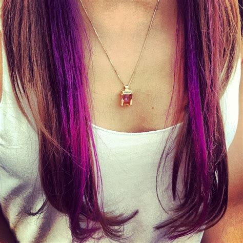 highlights underneath hair warning these 20 purple hairstyles will make you want to
