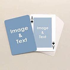 custom card deck template photo cards custom printed deck