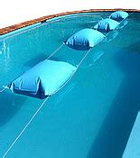 pool pillows for winter protecting pool liners from damage intheswim pool