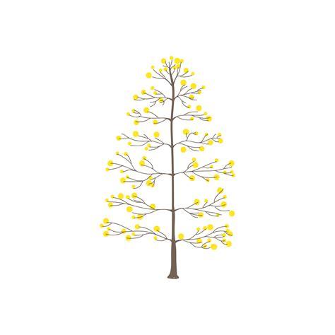 tree  yellow  leaves vector