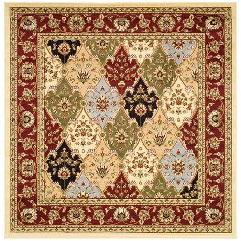 Safavieh Lyndhurst Multi Red 6 Ft X 6 Ft Square Area Rug 6 X 6 Area Rugs
