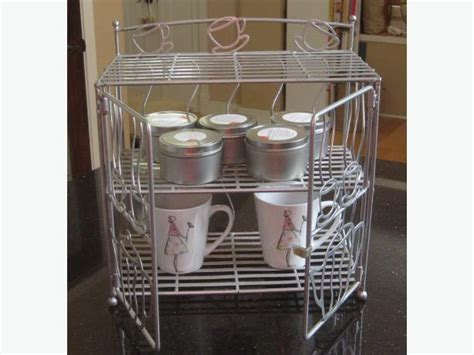 Tea Cup Cabinet by Wire Metal Coffee Tea Cup Storage Cabinet City