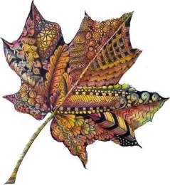 Round Table With Leaf Zentangle Leaf Color Art Pinterest Belle Natur Und
