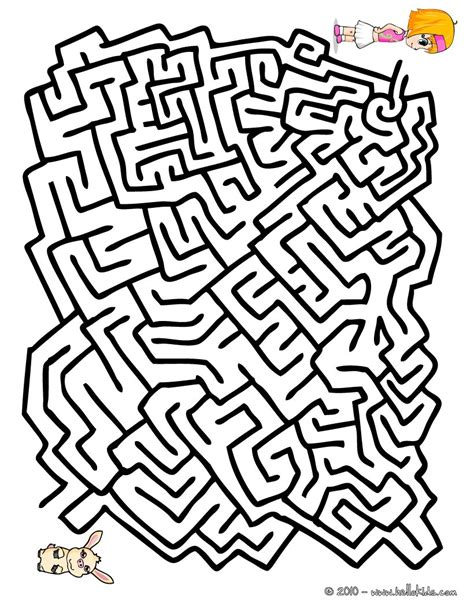 printable labyrinth maze find my pet easy printable maze online games hellokids com