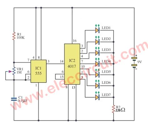 layout running led traffic light circuit diagram using 4017 efcaviation com