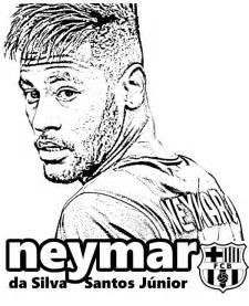 neymar fc barcelona kolorowanka druku malowanka kolorowanki