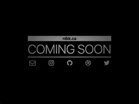 free html5 coming soon template coming soon by nik k dribbble