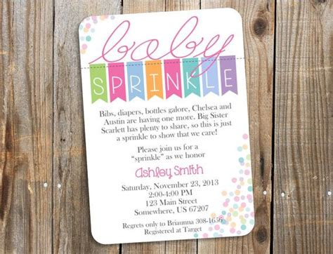 1000 ideas about sprinkle invitations on pinterest baby
