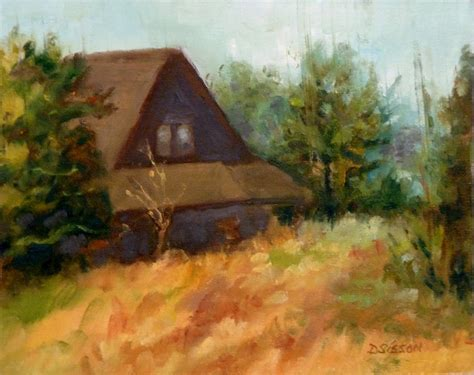 country paintings daily painters of arkansas country cabin debra sisson