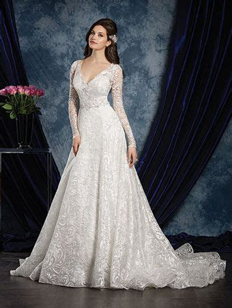 wedding gown sleeve styles alfred angelo style 970 a line embroidered wedding dress