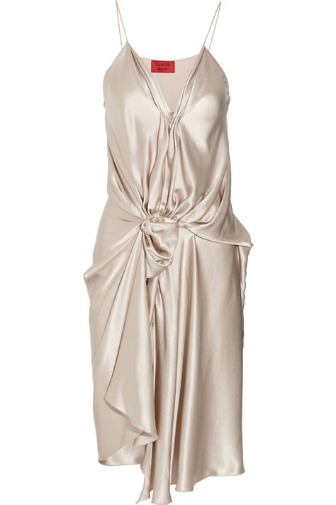Dress Satin lyst lanvin draped silk satin dress in white