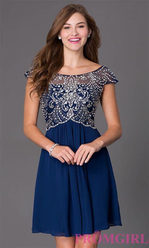 Beaded Sleeve Dress cap sleeve semi formal beaded dress promgirl