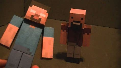 minecraft papercraft 3 notch and herobrine