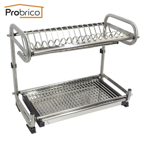 shelf dish drying rack probrico high quality 304 stainless steel kitchen dish