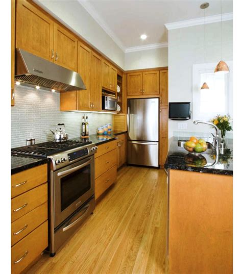 kitchen designs the best galley kitchen designs for efficient small kitchen