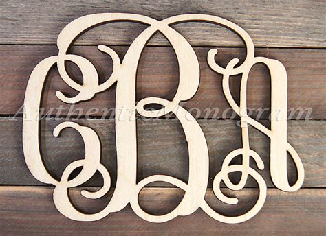 wooden monogram wall letters unpainted home decor monogram