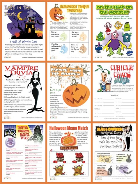 printable party games free halloween printable games party games partyideapros com