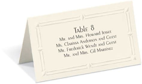 place card etiquette for a company banquet paperdirect