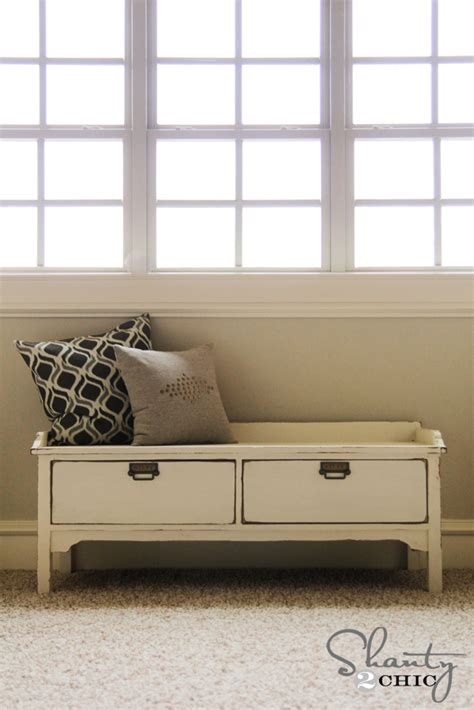 storage bench diy plans pottery barn knockoff bench shanty 2 chic