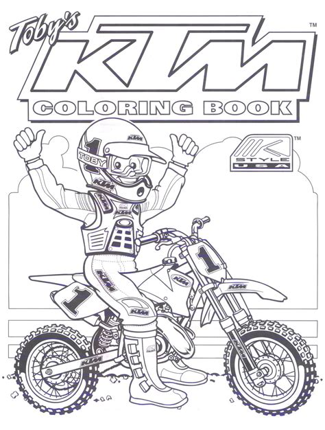 Ktm Dirt Bike Coloring Pages Pinteres Motocross Coloring Pages