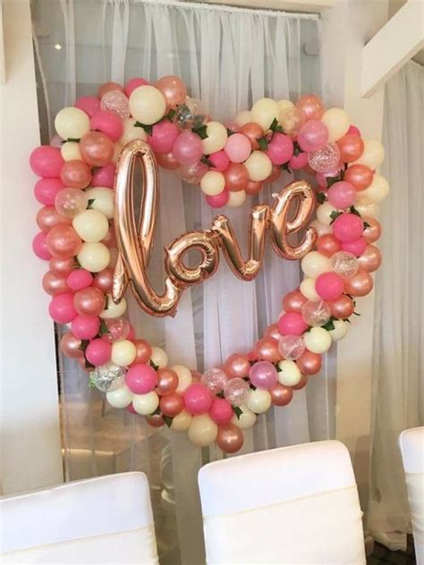 wonderful balloon decoration ideas  valentines day