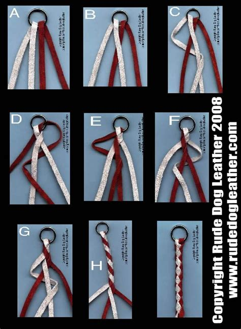 how to braid 4 strand rope how to make a 4 cord braid leather and wire jewelry