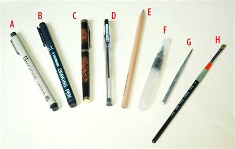 Pen Gel Karakter Isi 3 Cedharrsketchbook 0035 Sketch Equipments