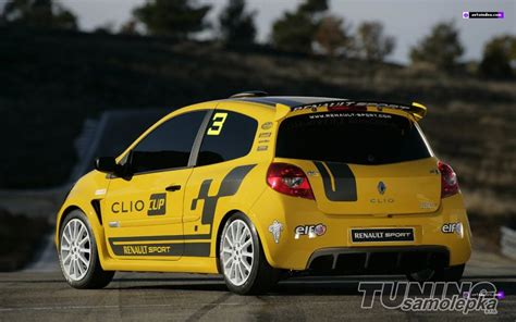 Lepeni Folie Na Sklo Auta by Renault Clio Sport Bočn 237 Polep Bočn 237 Polepy Tsdesign