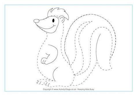 skunk tracing page pre   kindergarten printables