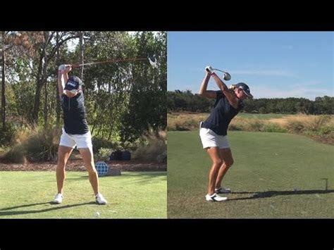 luke donald swing speed stacy lewis synced driver golf swing dtl face on reg