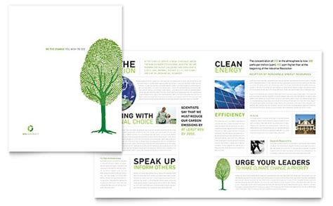 design for the environment exles environmental non profit newsletter template design