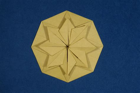 Single Fold Origami - origami images of single sheet geometric models folded
