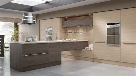gray and brown kitchen linear brown grey avola our kitchens mackintosh kitchens