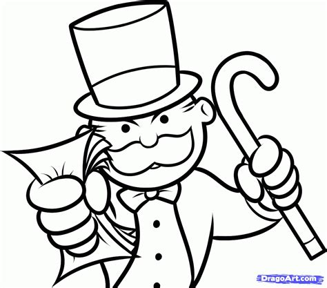 coloring sheet best of monopoly coloring page gallery printable