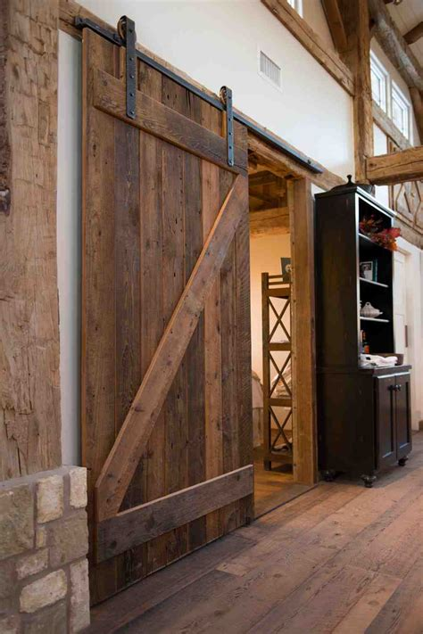 sliding barn door in house barn house interior photos studio design gallery