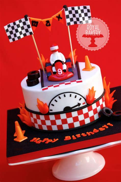 kart cake  cake   birthday boy    karting party  modeled