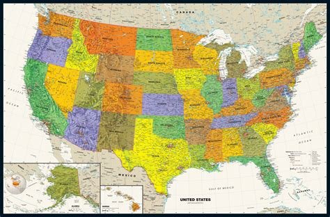 maps of the usa contemporary usa wall map