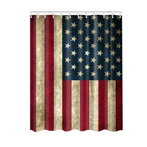 Flag Shower Curtain by Bath Waterproof Shower Curtain Usa Flag Bathroom Curtains