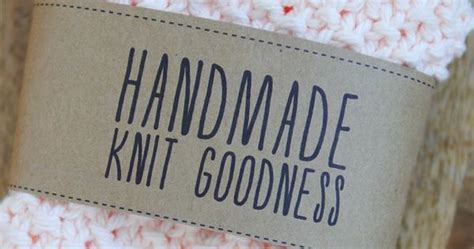 Handmade Labels For Knitting - handmade knit goodness labels free printables on