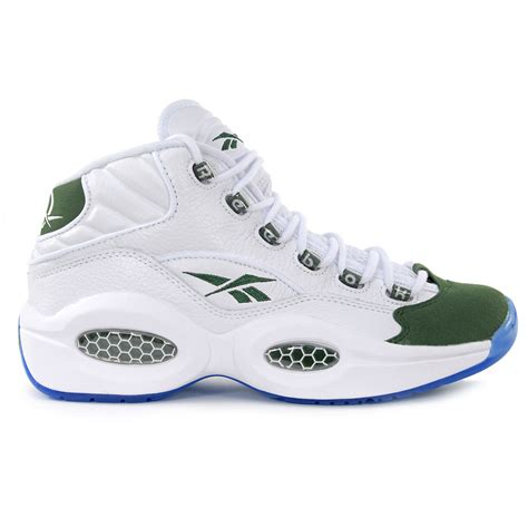 iversons shoes reebok classics question mid green white allen iverson