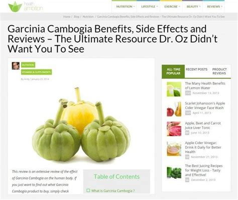 side effects of using garcinia cambogia extract reviews best flat 8 positive and negative reviews for garcinia cambogia