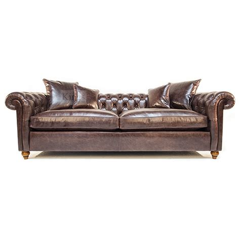 Chestnut Leather Sofa Duresta Connaught Chesterfield Sofa In Clyde Chestnut Leather