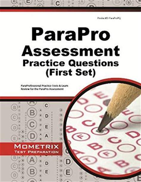 parapro assessment practice questions paraprofessional practice tests review