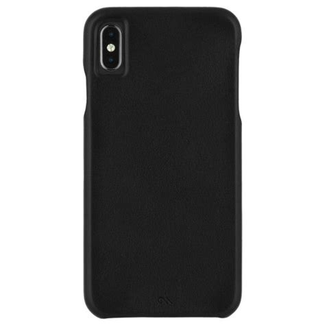 mate apple iphone xs max barely there leather smooth black target