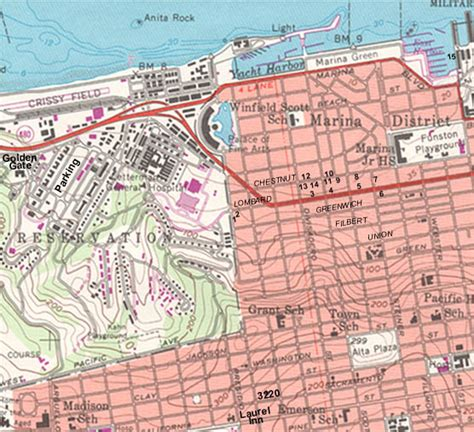 san francisco map topographic san francisco map topographic