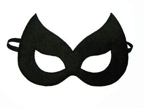 catwoman felt mask 2 years adult size black cat