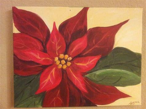 acrylic poinsettia painting christmas paintings christmas canvas painting