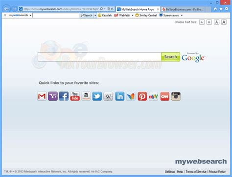 web search remove mywebsearch toolbar real fixyourbrowser